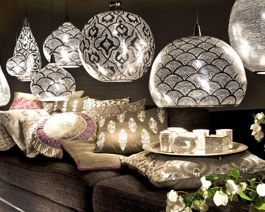 D couvrez le style marocain chic et moderne luminaire design for Deco salon moderne chic